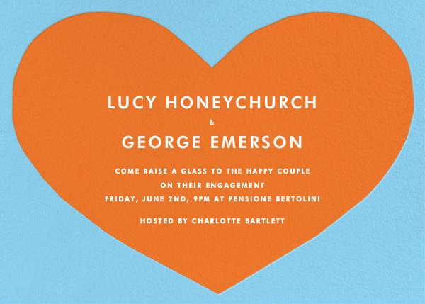 Heart - Blue Orange - The Indigo Bunting - Engagement party