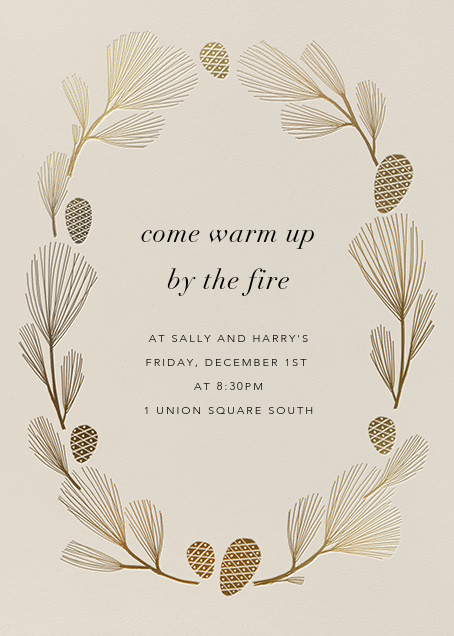 Sugar Pine - Santa Fe/Gold - Paperless Post - Winter entertaining
