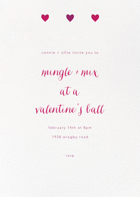 Triple Hearts - Paperless Post - Valentine's Day