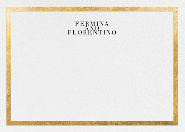 Editorial II (Stationery) - White/Gold - Paperless Post