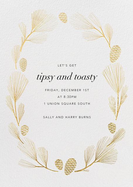Sugar Pine - Ivory/Gold - Paperless Post - Winter entertaining