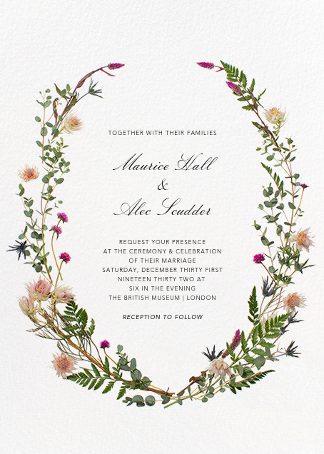 Fleurs Sauvages (Tall) - Paperless Post - Printable invitations