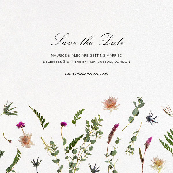 Fleurs Sauvages (Save the Date) - Paperless Post - Save the date