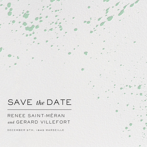 Splatter Cloth II (Save the Date) - Mint - Paperless Post