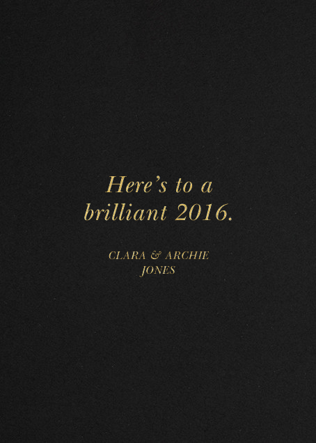 Better Luck Next Year! - Gold - Derek Blasberg - New Year - card back