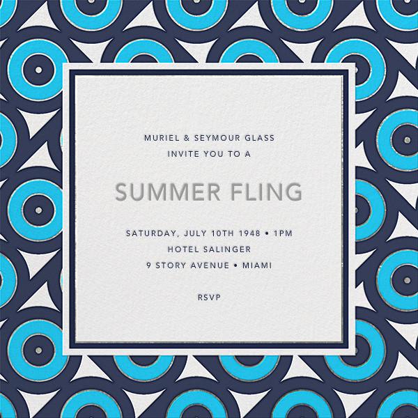 Archer - Blue - Jonathan Adler - Summer parties