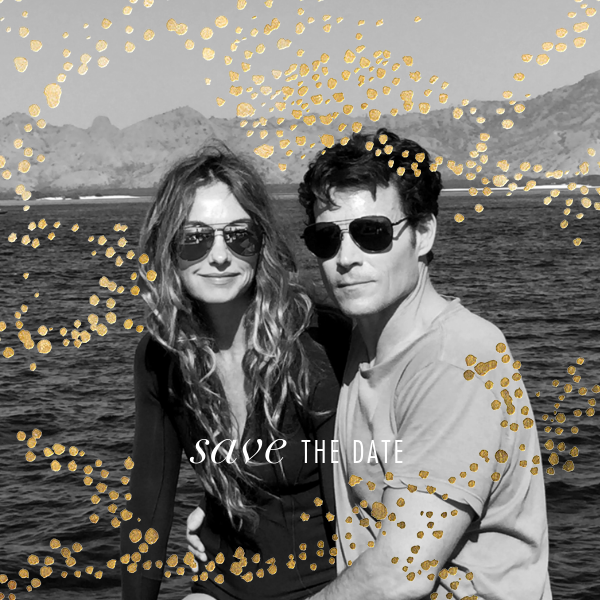Evoke (Photo Save the Date) - Gold - Kelly Wearstler - Save the date