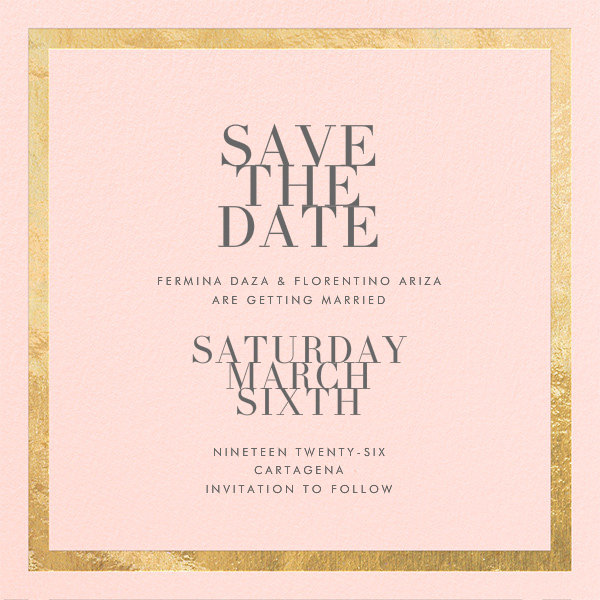 Editorial II (Save the Date) - Meringue/Gold - Paperless Post - Save the date