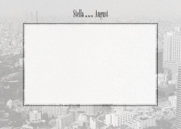 City Panoramic (Stationery) - Ivory - Paperless Post - Personalized stationery