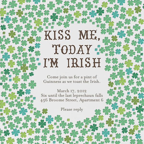Kiss Me Im Irish - Mr. Boddington's Studio - St. Patrick's Day