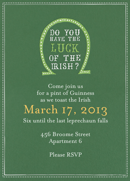 Luck of The Irish - Moss - Mr. Boddington's Studio - St. Patrick's Day