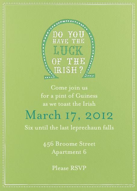 Luck of The Irish - Charterhouse - Mr. Boddington's Studio - St. Patrick's Day