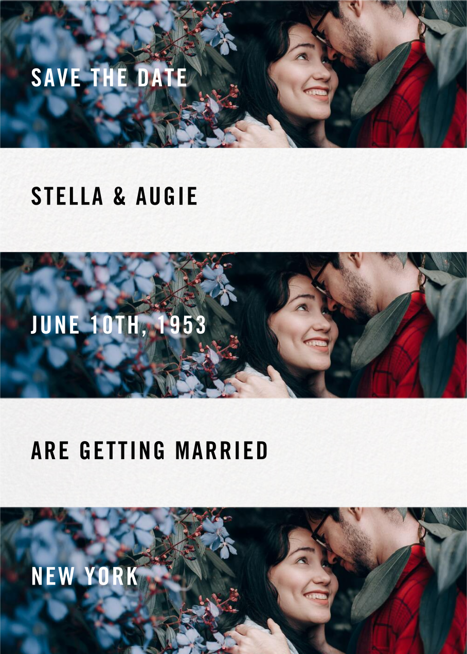 Three Photo Bands - Paperless Post - Save the date