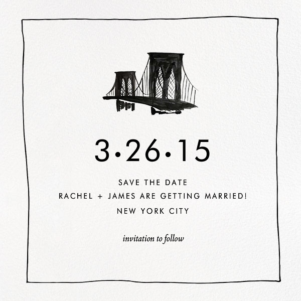 Borough (Save the Date) - Black - Linda and Harriett - Save the date