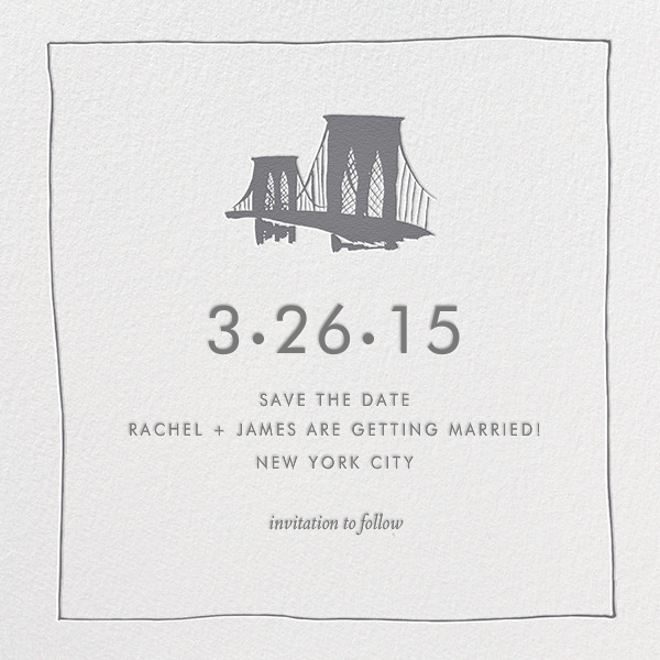 Borough (Save the Date) - Grey - Linda and Harriett - Save the date