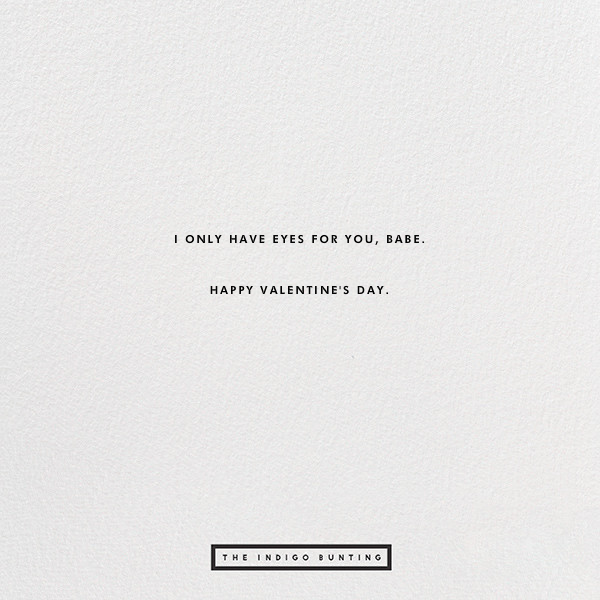 Only Have Eyes For You - The Indigo Bunting - Valentine's Day - card back