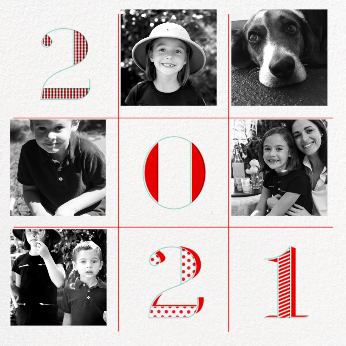 2021 Tic Tac Toe - Paperless Post - Holiday cards