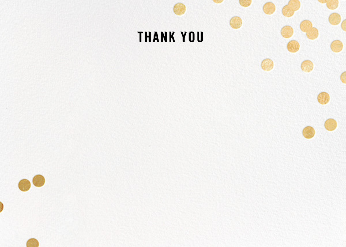 Confetti (Stationery) - White/Gold - kate spade new york - General