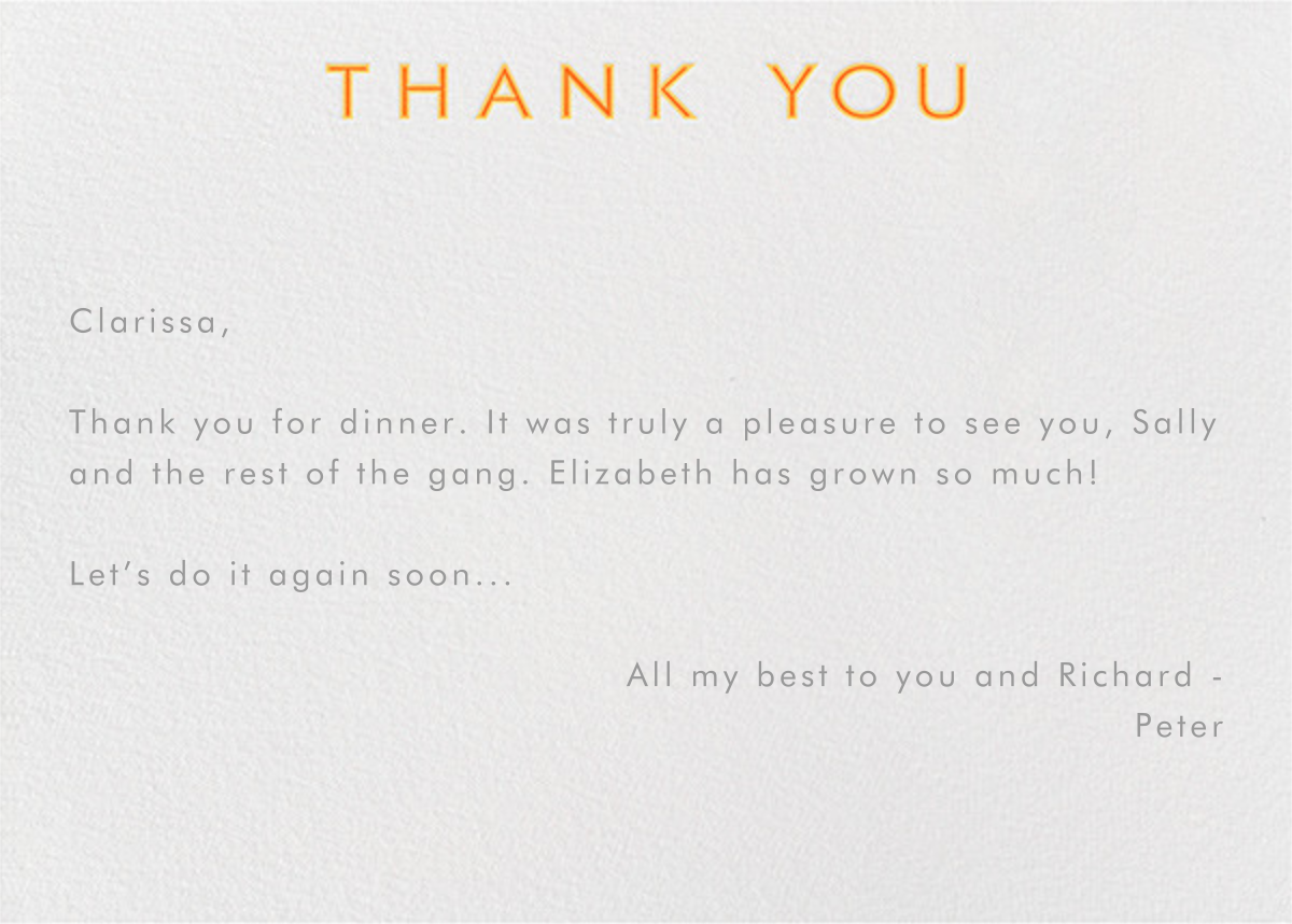 Double Thank You - Oranges - Paperless Post - General