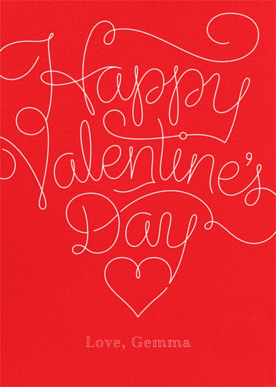 Red Letter Day - Paperless Post - Valentine's Day