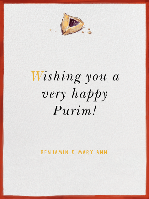 Hamantaschen - Paperless Post - Purim - card back