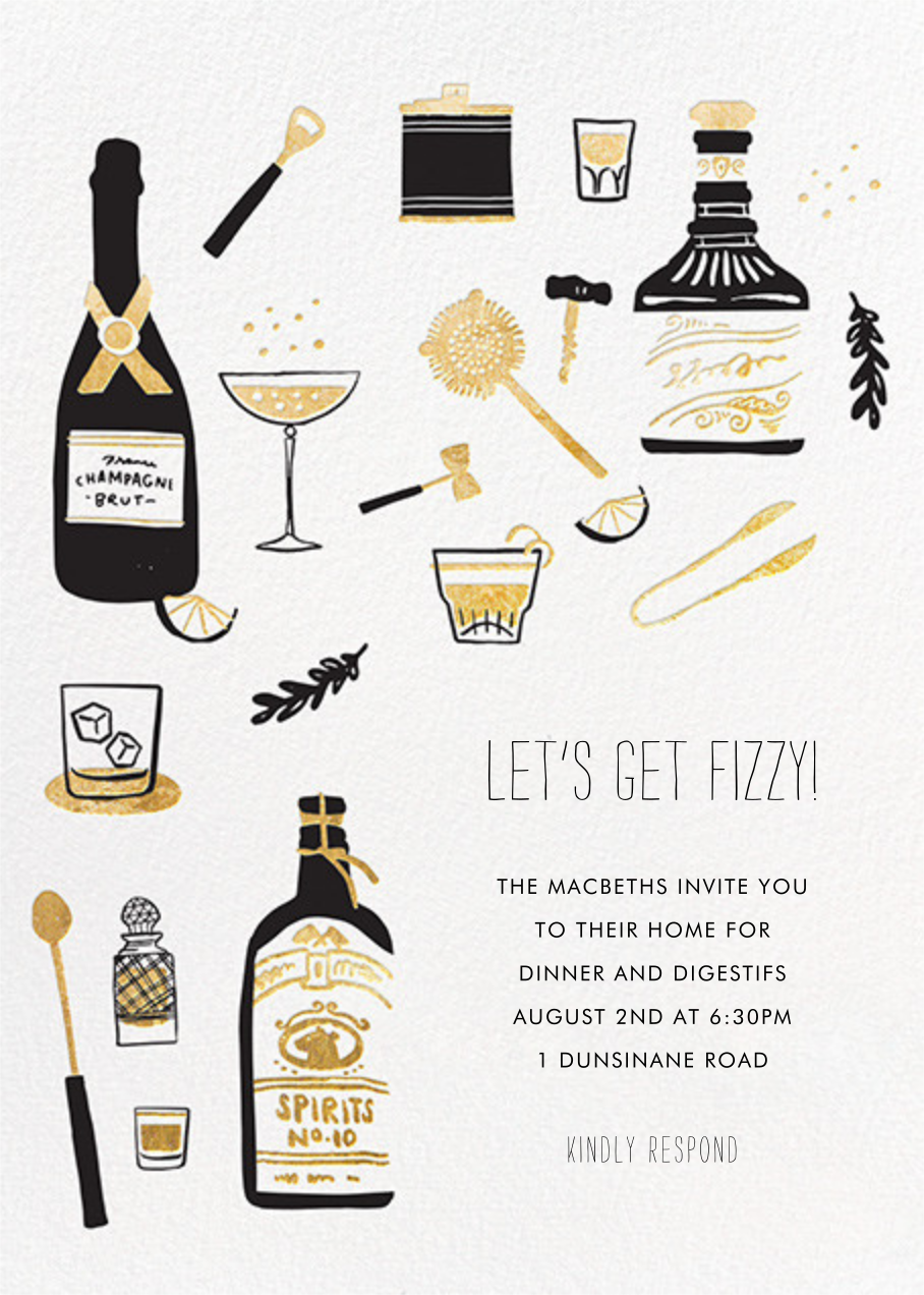 Come for Cocktails - Hello!Lucky - Wine tasting invitations