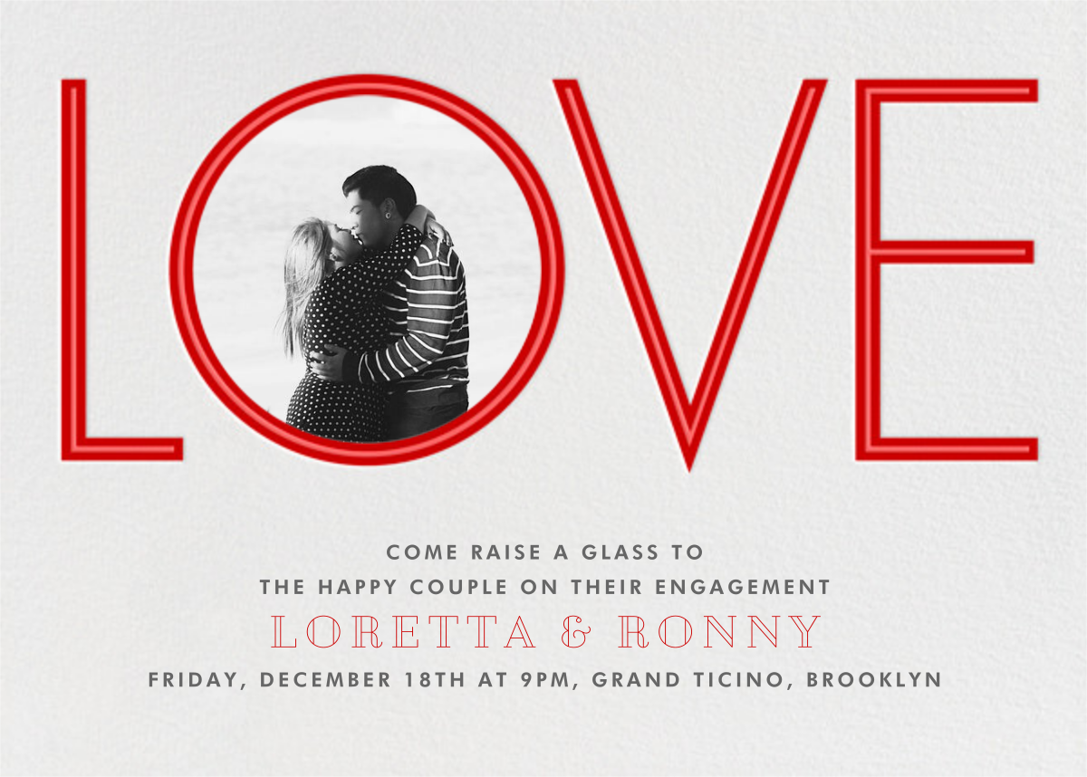 Tunnel of Love - Paperless Post - Engagement party