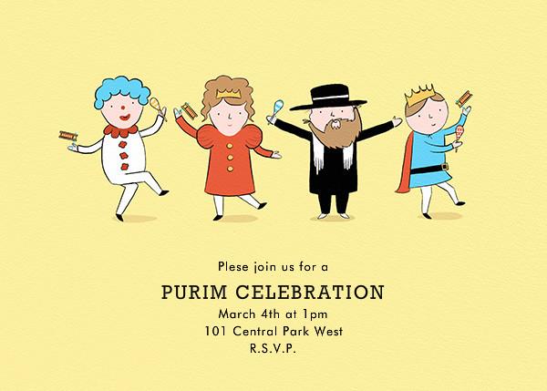 Purim Kids - Paperless Post - Purim