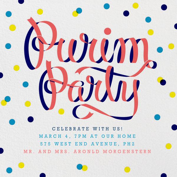 Purim Party - Paperless Post - Purim