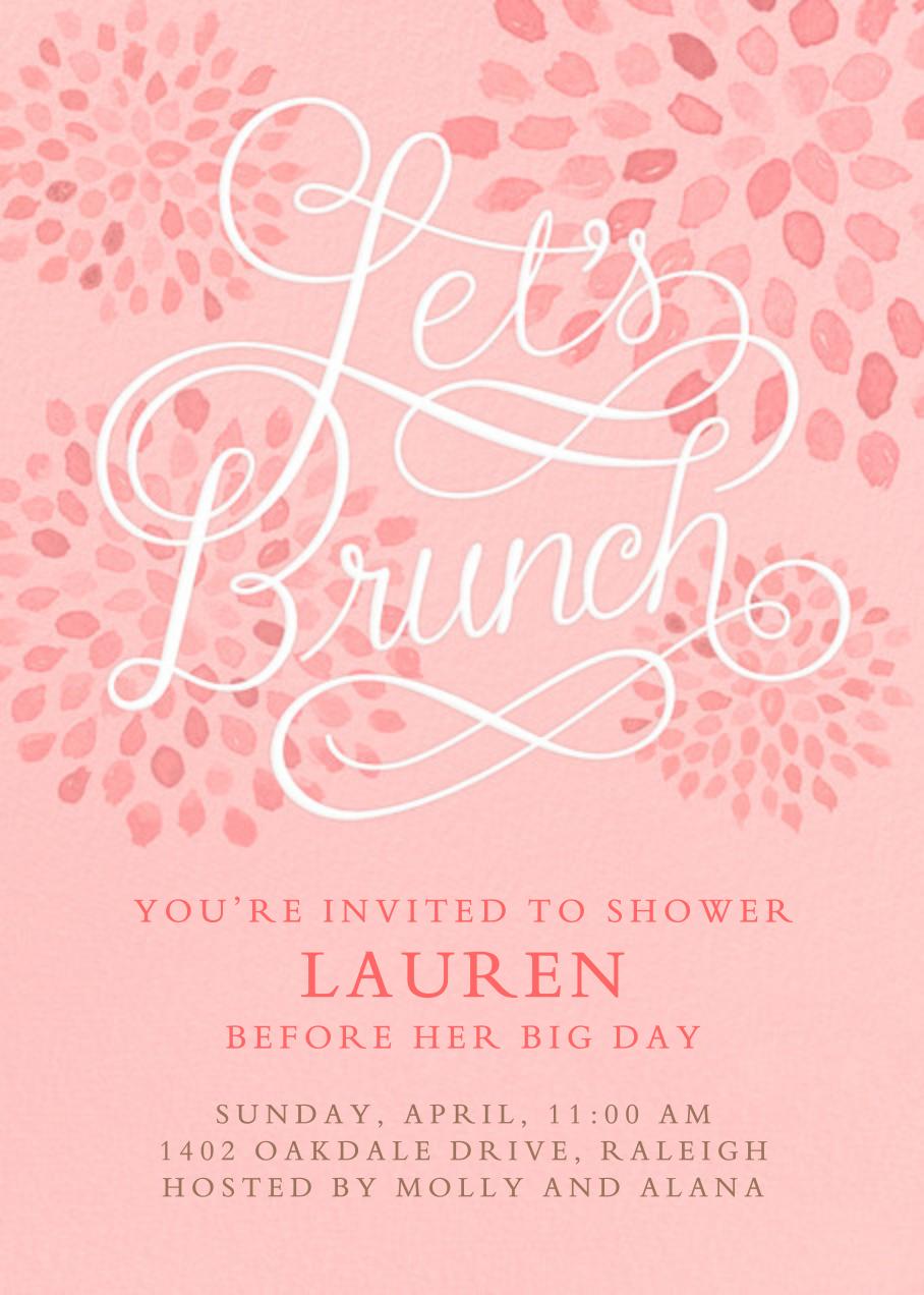 Let's Brunch - Crate & Barrel - Bridal shower