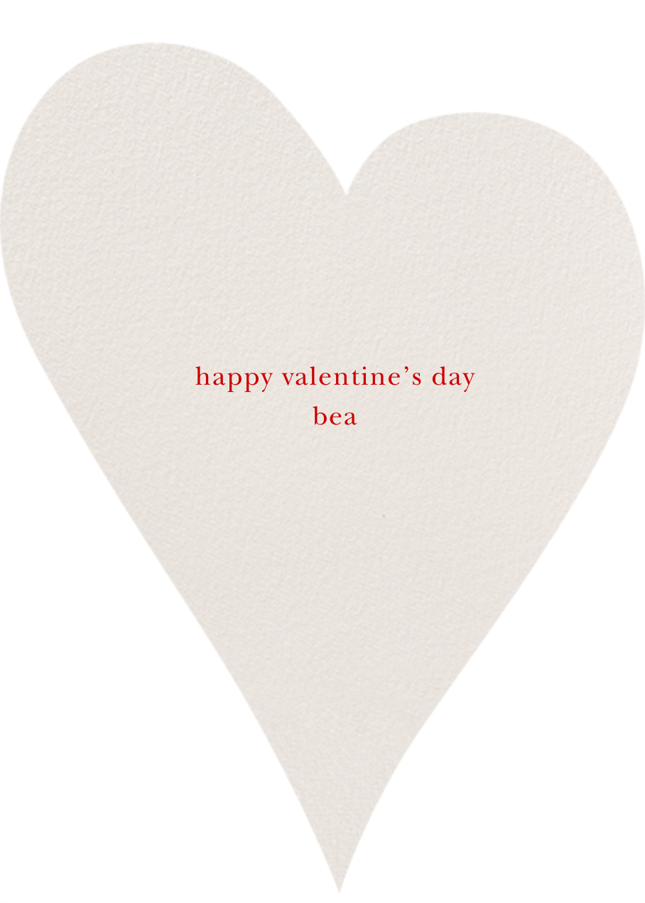 Script Heart - kate spade new york - Valentine's Day - card back