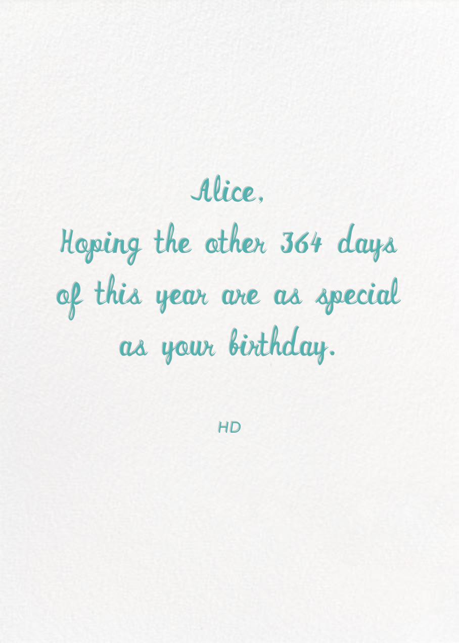 Unicorn High Five (Greeting) - Hello!Lucky - Birthday - card back