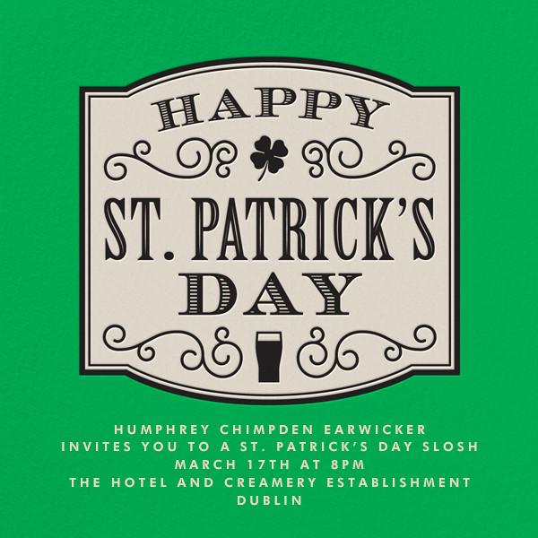 Slainte - Paperless Post - St. Patrick's Day