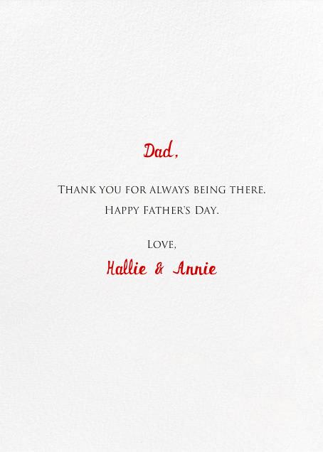 A Little Lost Sailboat - Mr. Boddington's Studio - Father's Day - card back