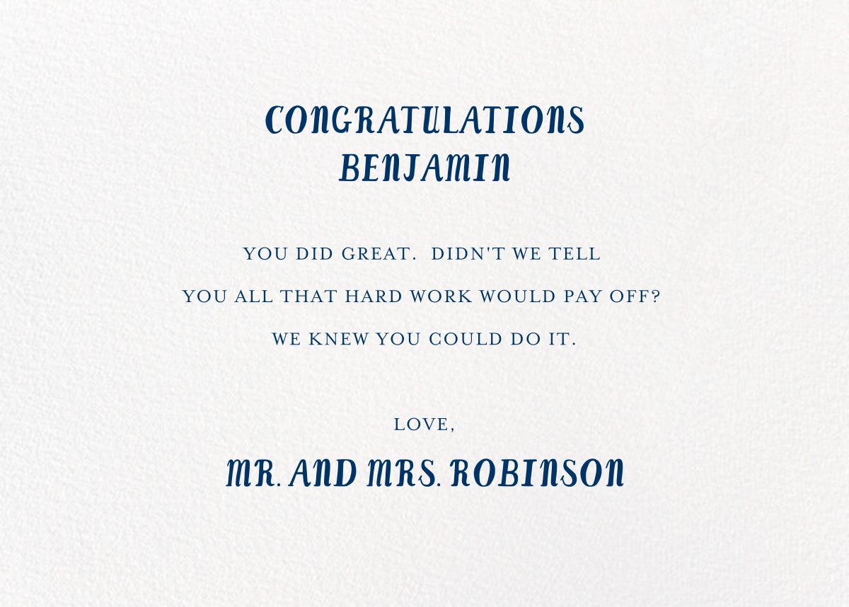 Best is Yet to Come - Mr. Boddington's Studio - Graduation - card back