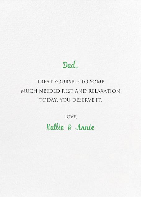 The Best Nest - Mr. Boddington's Studio - Father's Day - card back