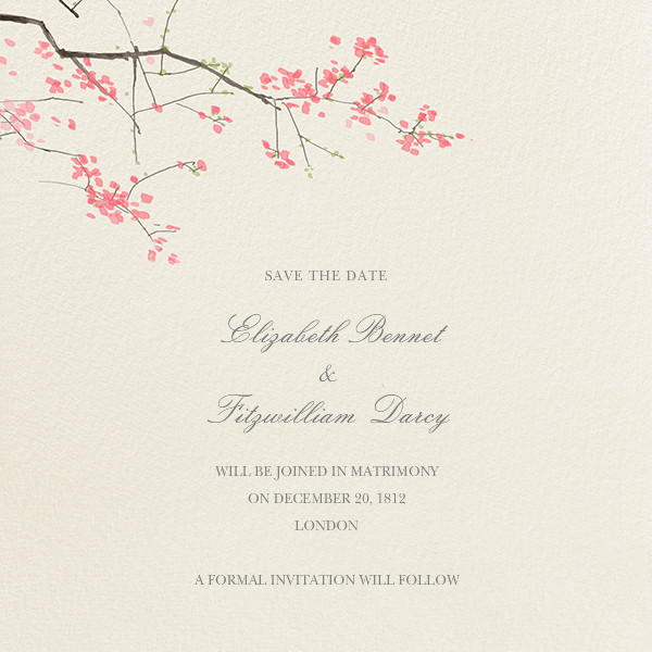 Japanese Cherry (Save the Date) - Felix Doolittle - Destination