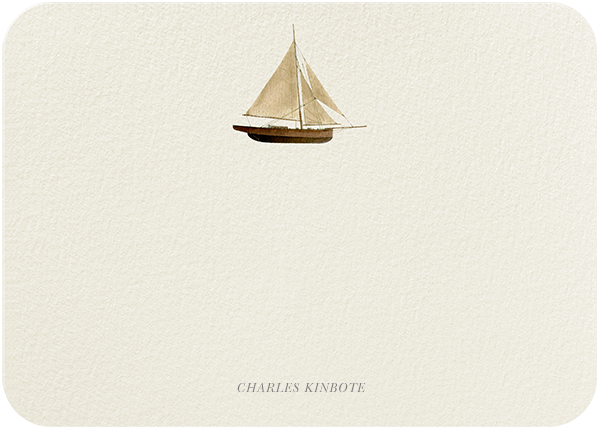 Wooden Sailboat - Felix Doolittle - Personalized stationery