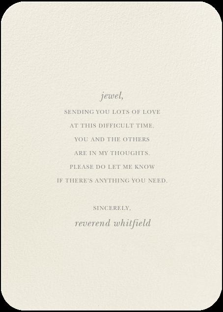 Rembrandt Tulip - Felix Doolittle - Sympathy - card back