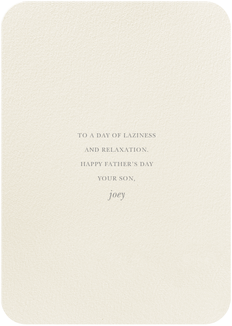 Snifter - Felix Doolittle - Father's Day - card back