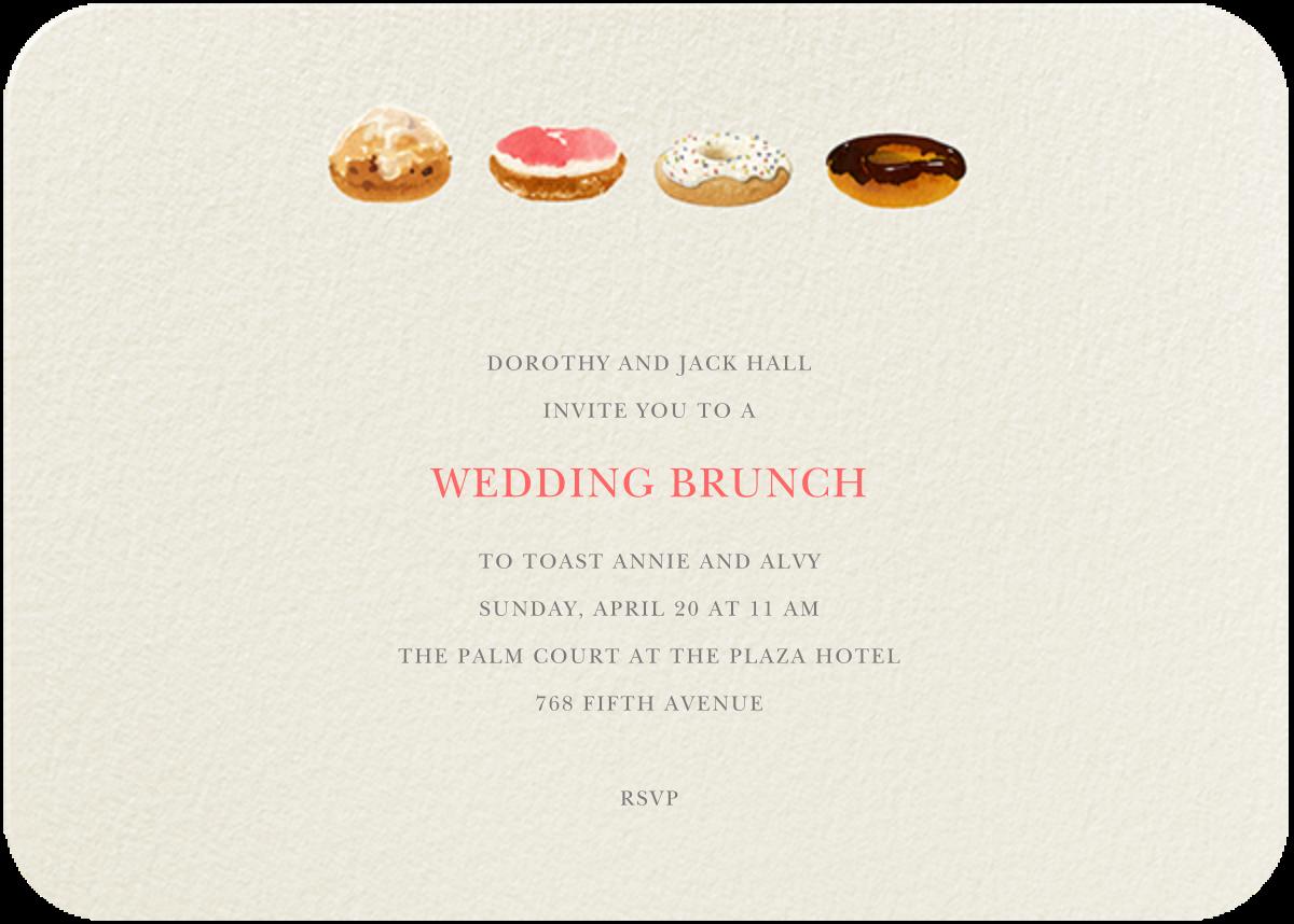 Doughnut Quarter - Felix Doolittle - Wedding brunch