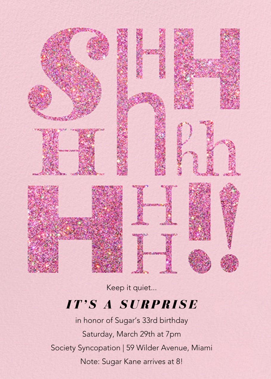 "It's Called a ""Secret"" - Blush - Paperless Post"