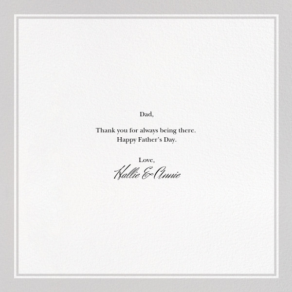 Father's Day - The New Yorker - Father's Day - card back