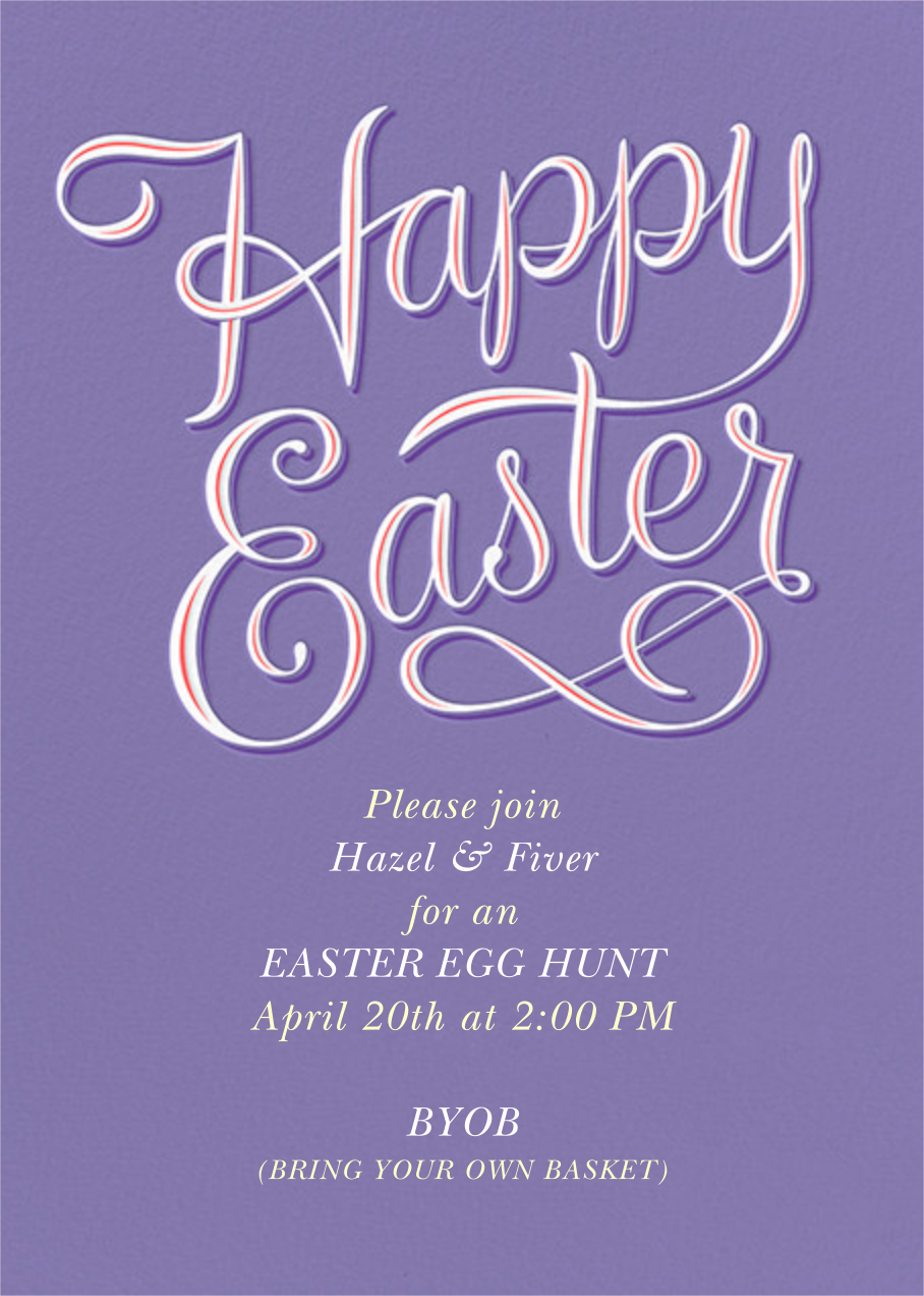 Happy Easter - Lavender - Paperless Post - Easter