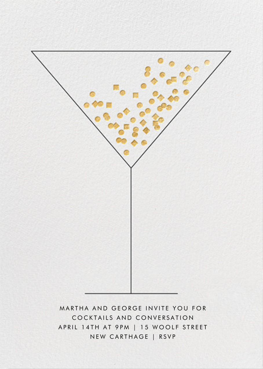 Confetti Martini - Paperless Post - Winter entertaining