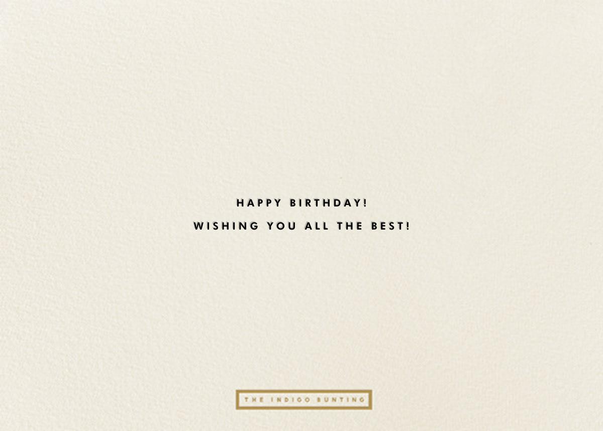 Birthday Languages - Cream - The Indigo Bunting - Back