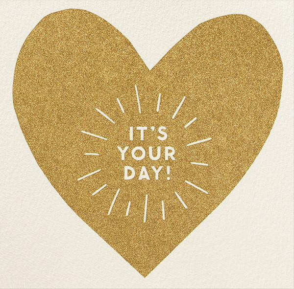 It's Your Day - The Indigo Bunting - Birthday