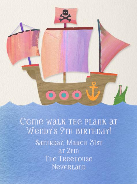 Kid's Ship - Pink - Paperless Post - Kids' birthday
