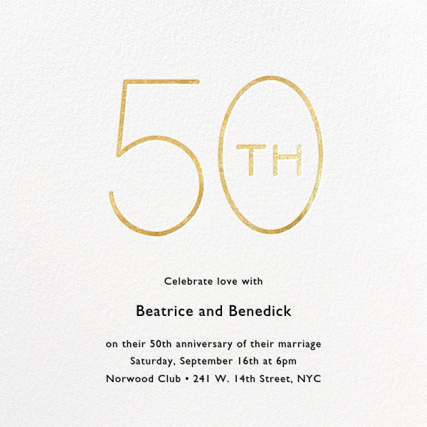 Decade (Fifty) - Gold - Paperless Post - Anniversary party