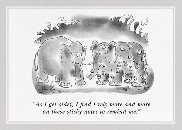 Forgetful Elephant - The New Yorker - Funny birthday eCards